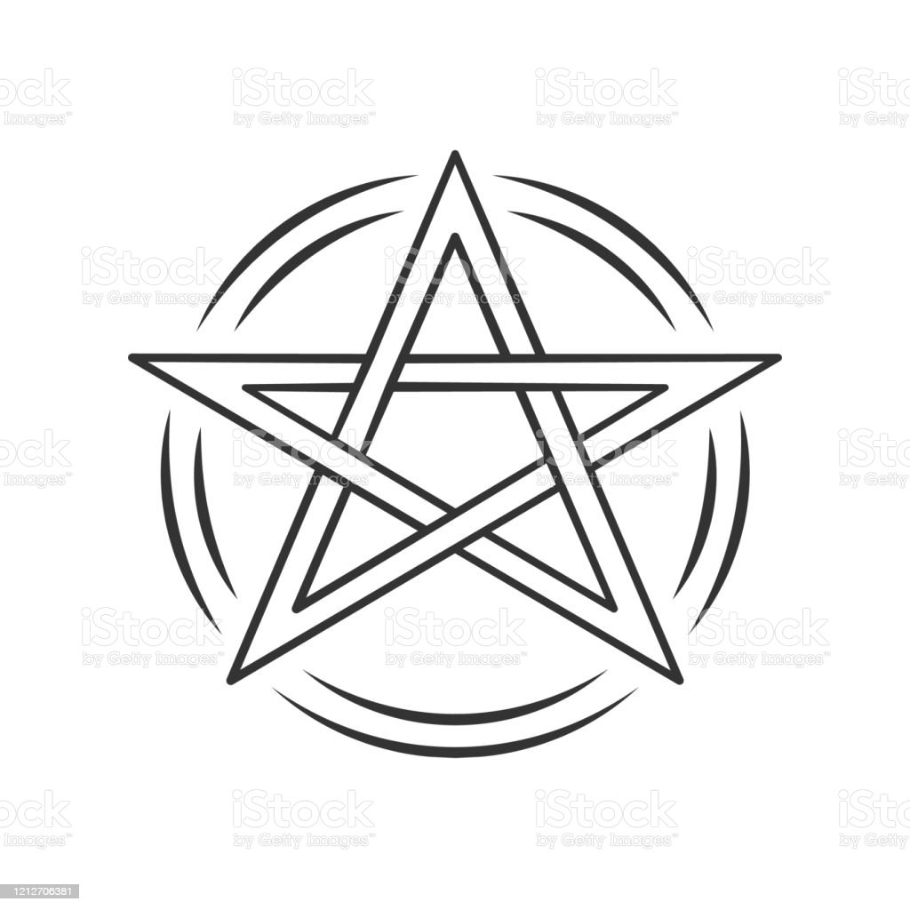 Pentagram Linear Icon Thin Line Illustration Occult Ritual Pentacle Devil Star Satanic Cult Wiccan Pagan Symbol Witchcraft Esoteric Sign Vector Isolated Outline Drawing Editable Stroke Stock Illustration Download Image Now Istock