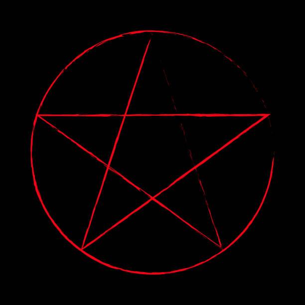 ilustrações de stock, clip art, desenhos animados e ícones de pentagram occult symbol - seitas