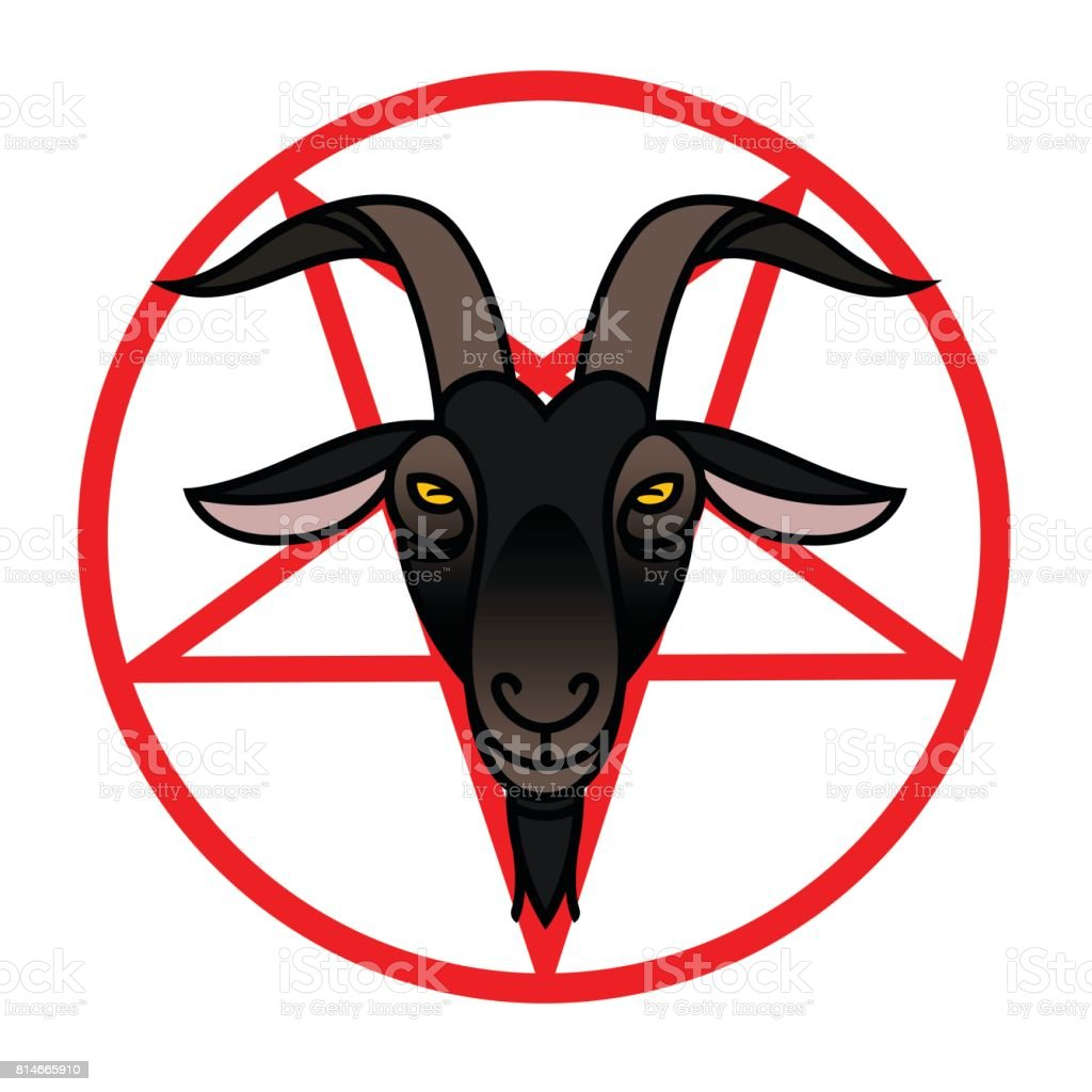 Pentagram Satanic Goat Head Satanic Symbol Stock Vector Art More