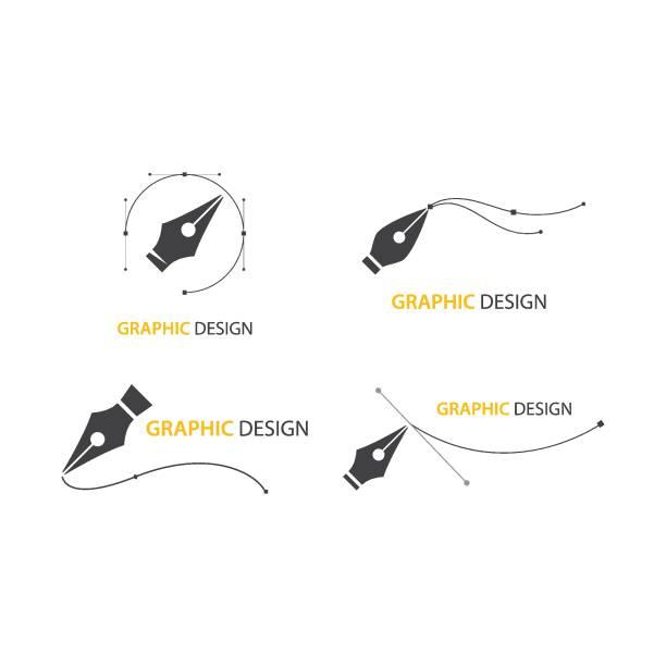 Pentool icon Pentool icon flat design vector svg stock illustrations