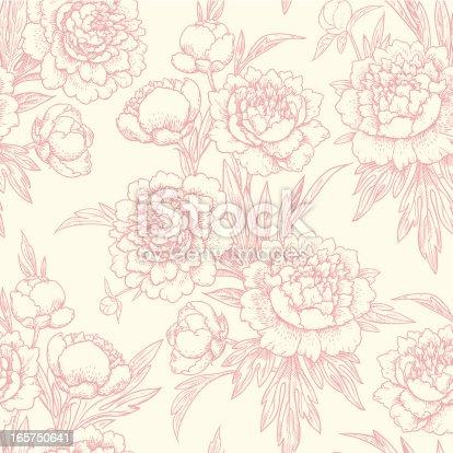 istock Peonies seamless pattern. 165750641
