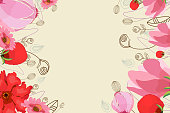 Peony flower cards. Pretty Flowers