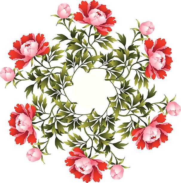 Peony flower illustration vector art illustration