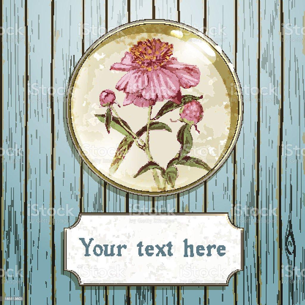 Peony flower royalty-free stock vector art