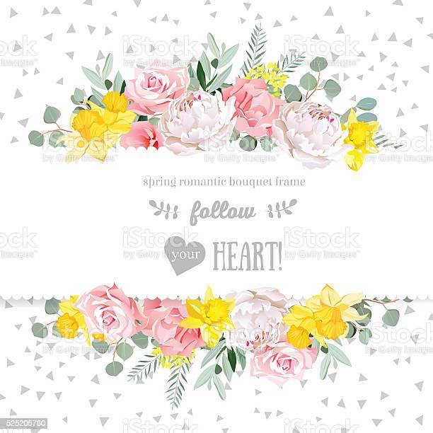 Peony rose narcissus pink flowers and eucaliptus vector design card vector id525205760?b=1&k=6&m=525205760&s=612x612&h=xqv bjcfuc92sxf  lfc w1smqw9cf keluw5g2y460=