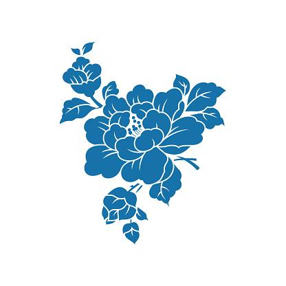 Peony(China paper-cut patterns)