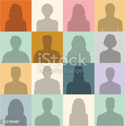 People abstract seamless background. People silhouette.