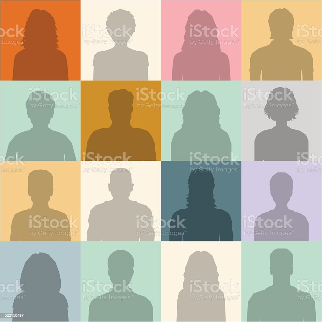 People abstract seamless background vector art illustration