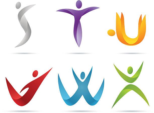 people alphabet - alphabet symbols stock illustrations