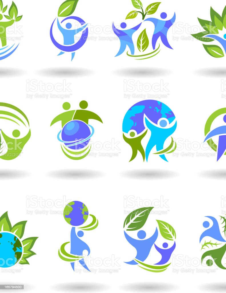 People and nature environment symbol royalty-free stock vector art