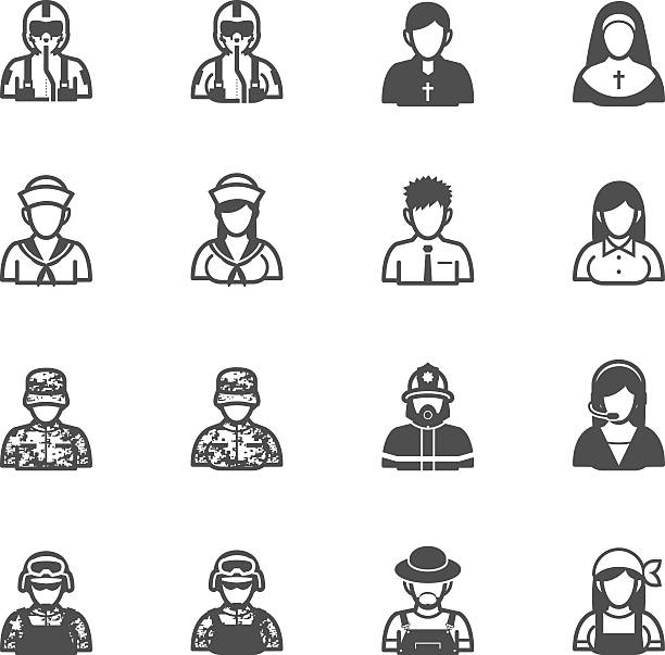 ilustraciones, imágenes clip art, dibujos animados e iconos de stock de iconos de personas y la ocupación - hermana