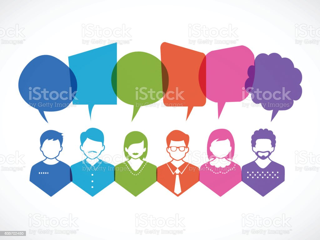 People and Talking royalty-free people and talking stock vector art & more images of brainstorming