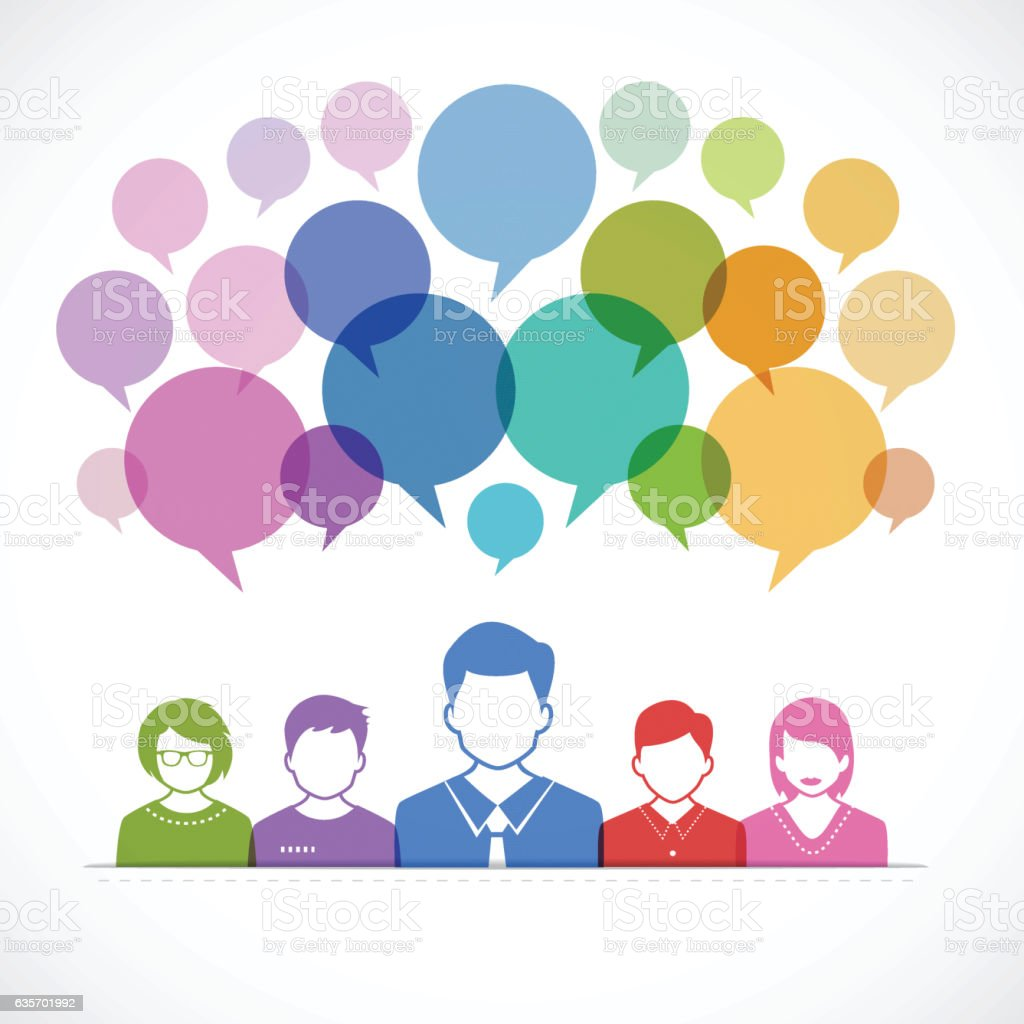People and Talking with Speech Bubbles royalty-free people and talking with speech bubbles stock vector art & more images of brainstorming