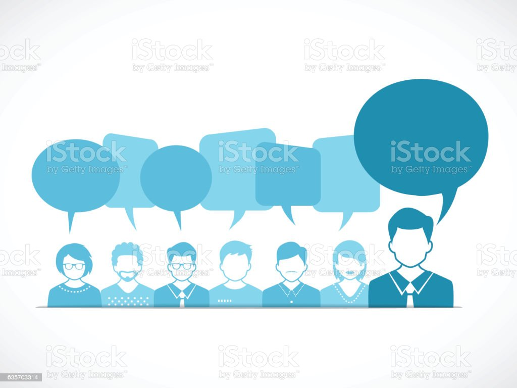 People and Talking with Speech Bubbles royalty-free people and talking with speech bubbles stock vector art & more images of adult