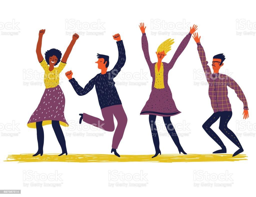 Menschen tanzen – Vektorgrafik