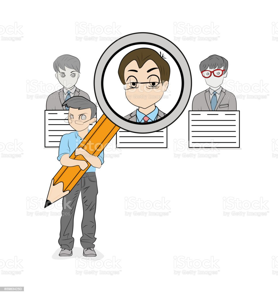 People Are Looking For A Resume About A Job Vector Illustration