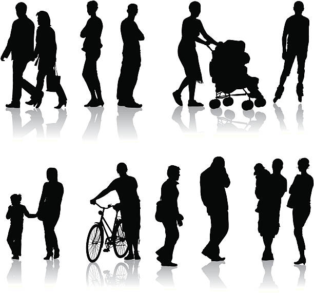 people around us - old man on bike stock illustrations, clip art, cartoons, & icons