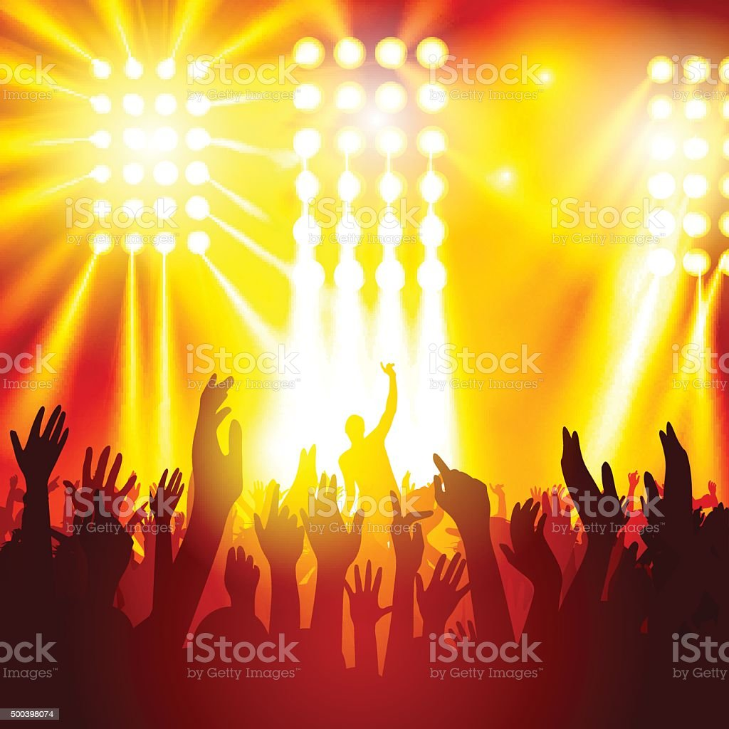 People at a concert royalty-free people at a concert stock illustration - download image now