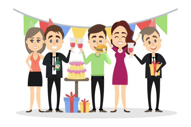 Happy Birthday Office Illustrations, Royalty-Free Vector ...