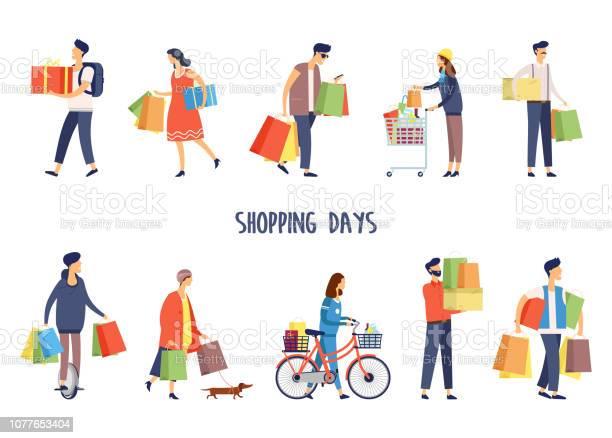 People at supermarket doing shoppingman and woman vector id1077653404?b=1&k=6&m=1077653404&s=612x612&h=w0iqas7bezhd5gpxsbs1b wq3dpamt2jkwk35ciuuik=
