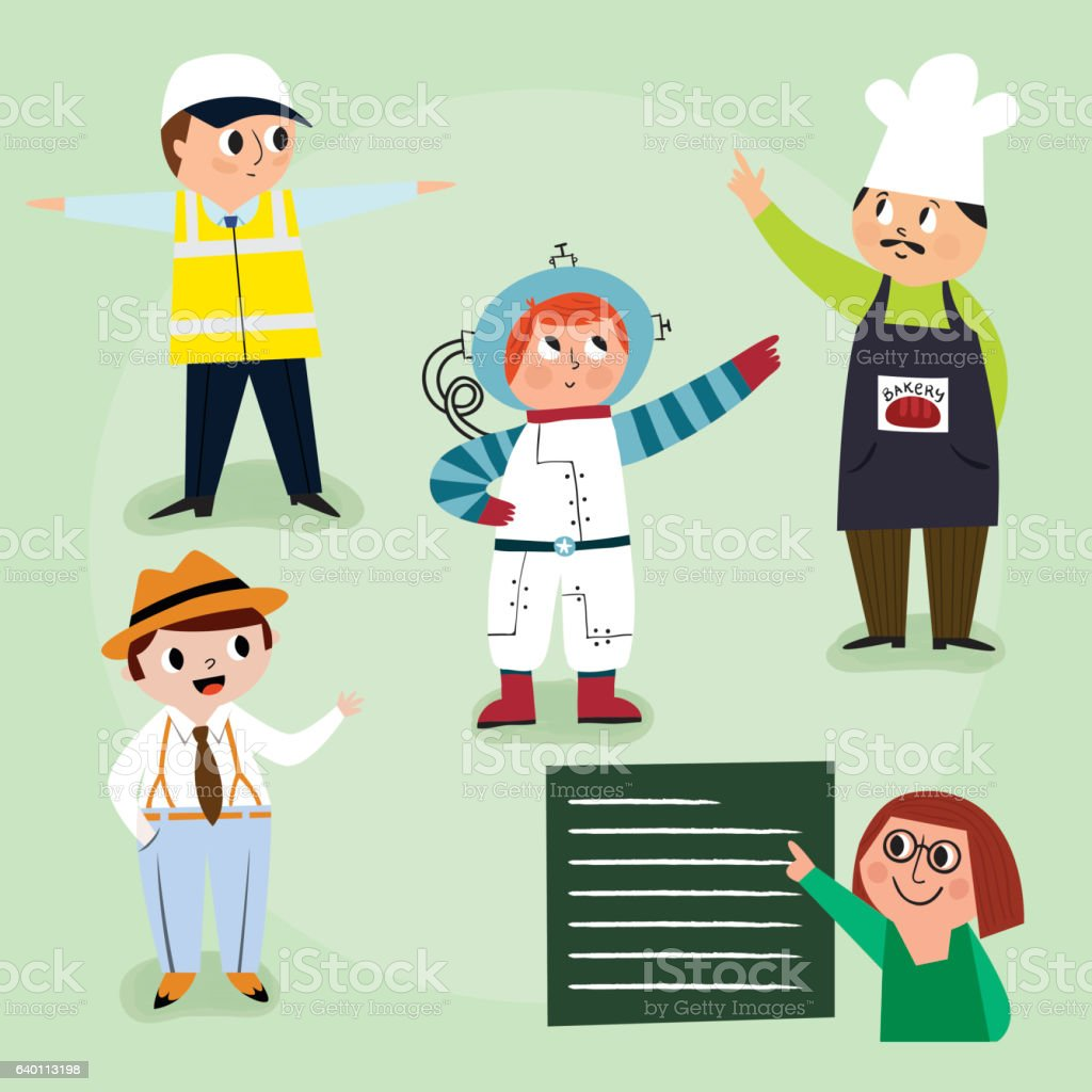 People at Work vector art illustration