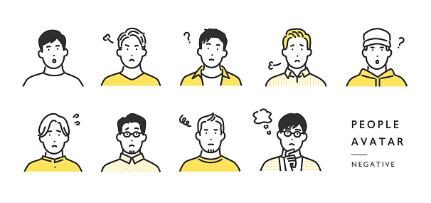 people avatar icon illustration set