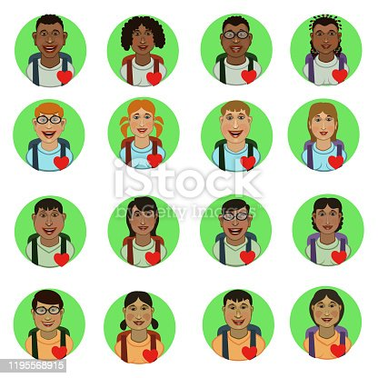 istock People avatar students school students to communicate 1195568915