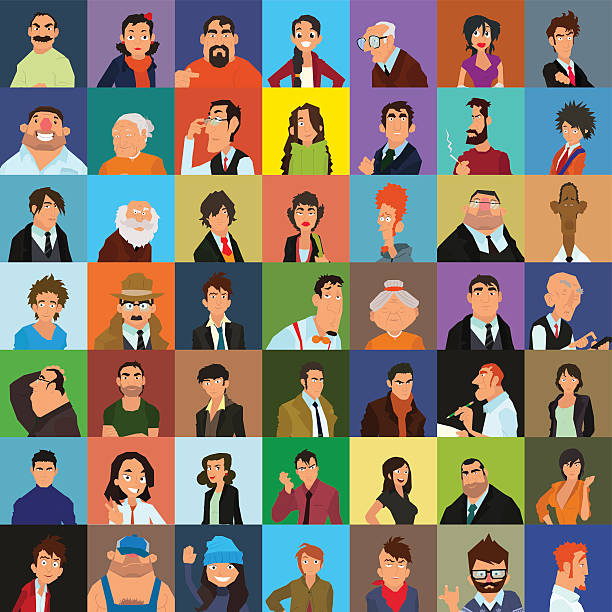 people avatar - old man hair stock illustrations, clip art, cartoons, & icons