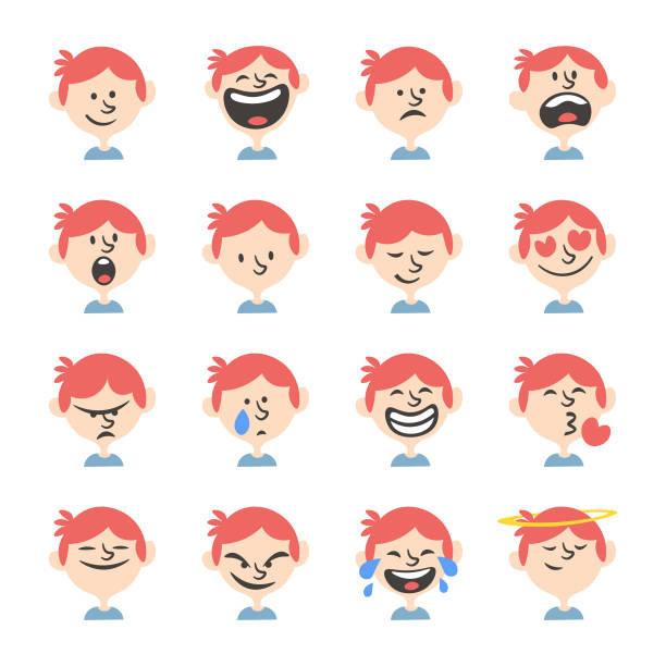 people avatars collection - redhead stock illustrations, clip art, cartoons, & icons
