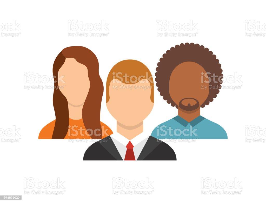 Groupe de personnes avatars communauté groupe de personnes avatars communauté – cliparts vectoriels et plus d'images de adulte libre de droits