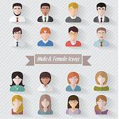 People avatars flat illustration