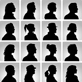 Head silhouettes of people. File is layered and hi res jpeg included. Please take a look at other work of mine linked below.