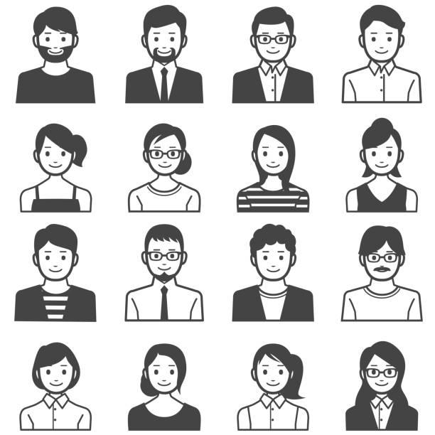bildbanksillustrationer, clip art samt tecknat material och ikoner med personer avatarer - japanskt ursprung