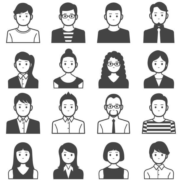 People avatars vector art illustration