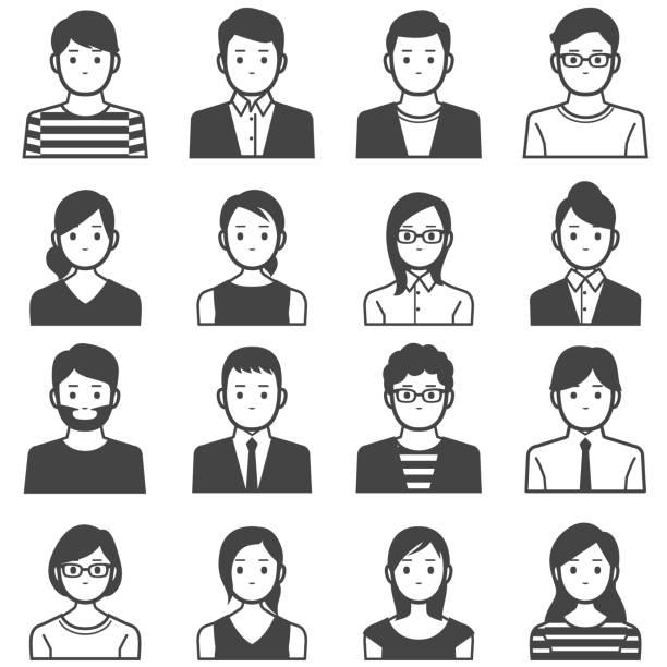 アバター人々 - ビジネスマン 日本人点のイラスト素材/クリップアート素材/マンガ素材/アイコン素材