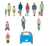 People, traffic