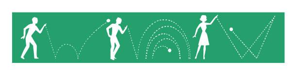 People Bouncing Ball vector art illustration