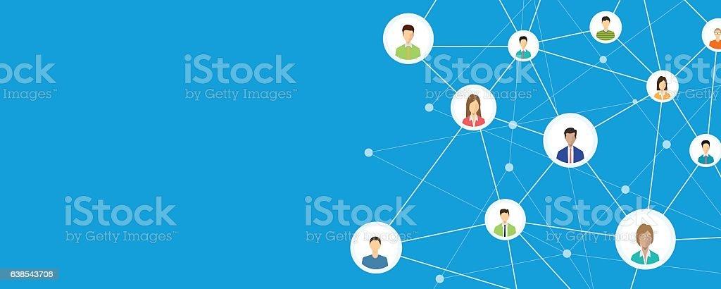 people business connection on social network online – Vektorgrafik
