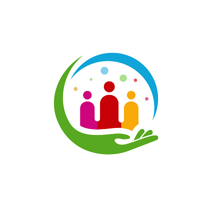 People Care logo designs concept, Group Care logo symbol vector