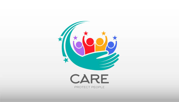 People Care Vector Illustration vector art illustration