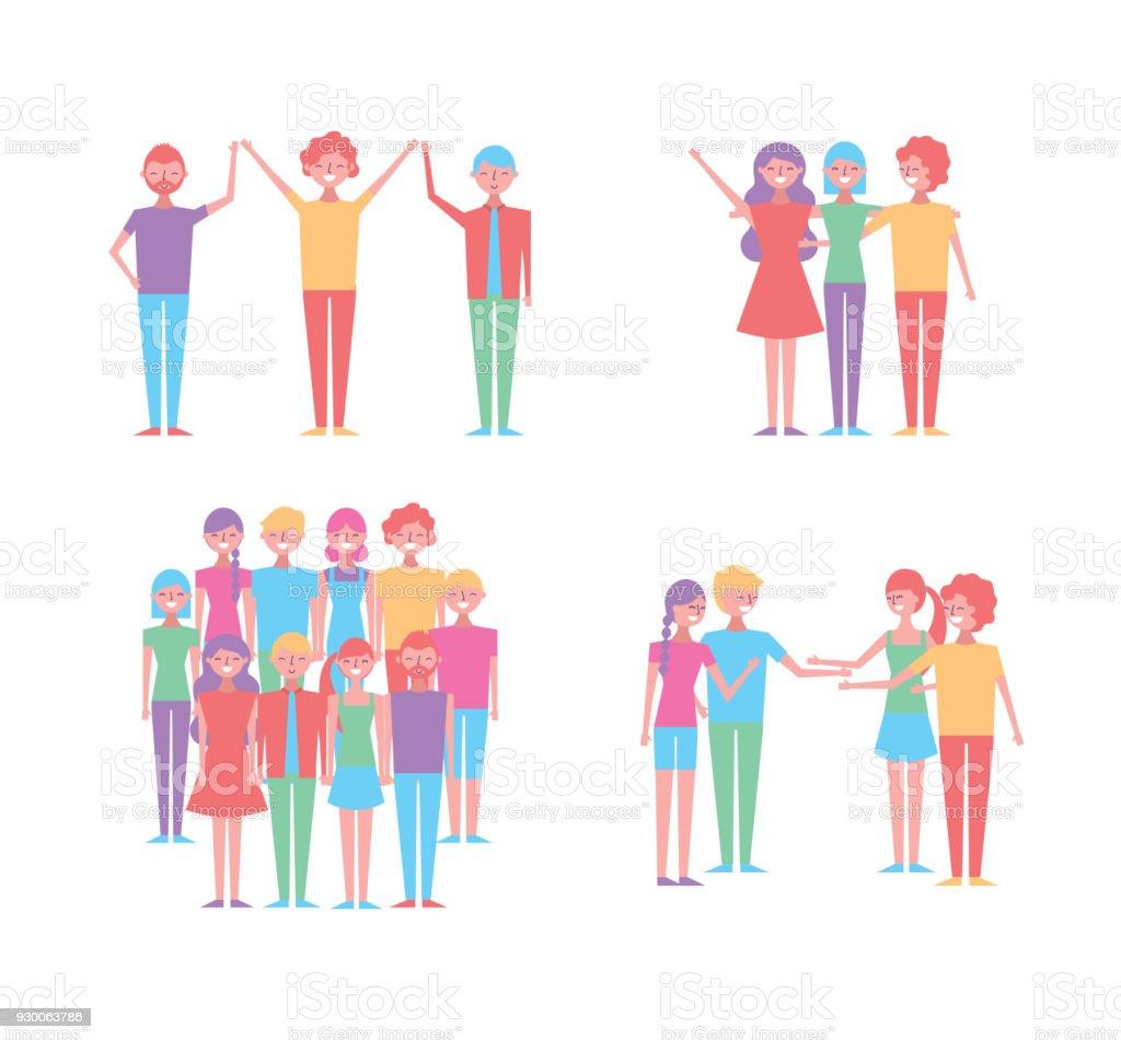 Vetores De As Pessoas Os Desenhos Animados E Mais Imagens De