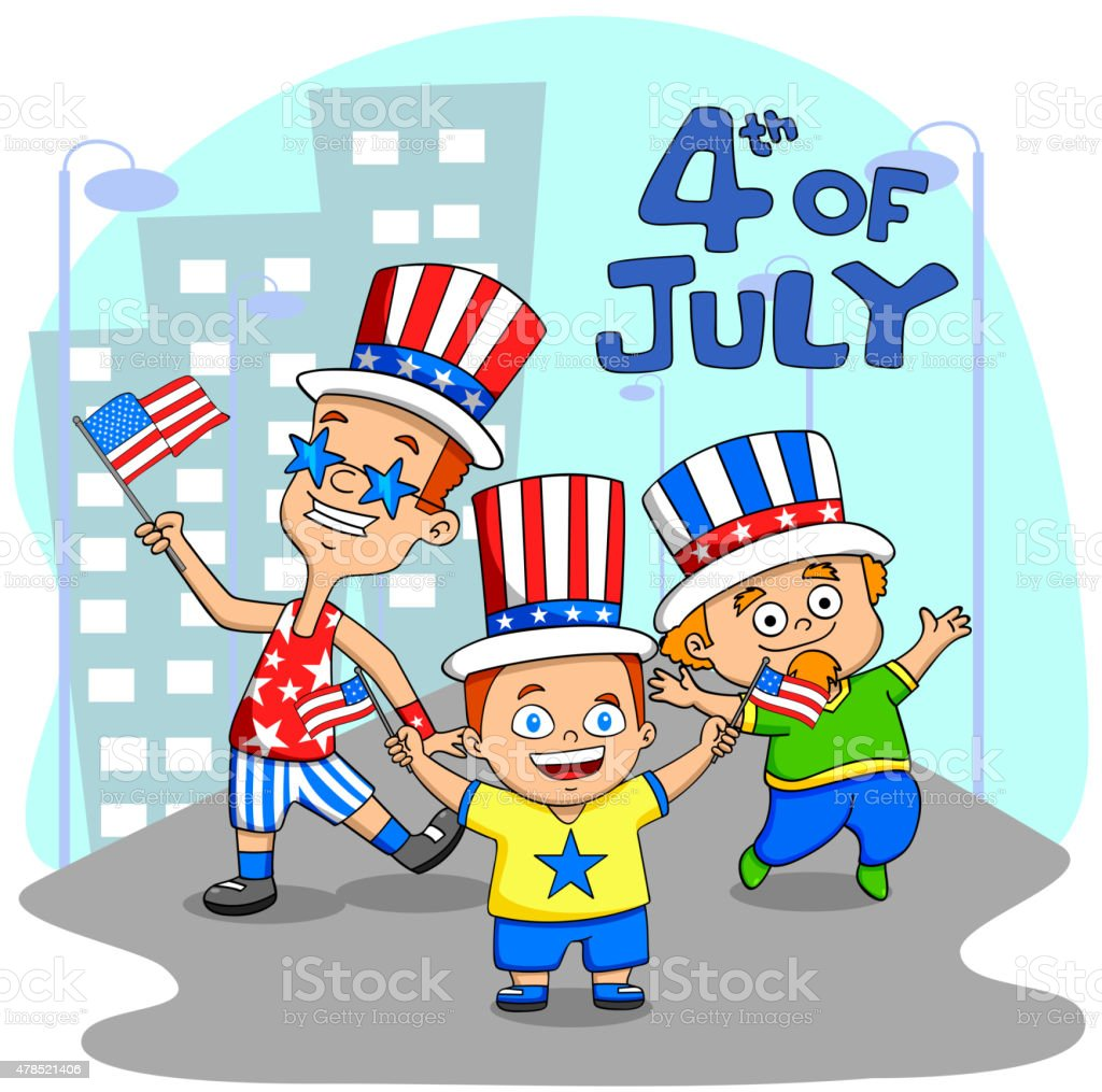 People celebrating 4th of July People celebrating 4th of July Independence Day of America in vector 2015 stock vector