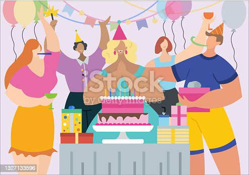 People Celebrating Birthday Party