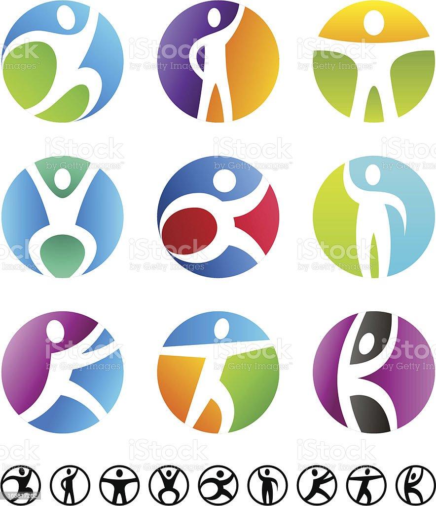 People | Circle symbolic set royalty-free people circle symbolic set stock vector art & more images of activity
