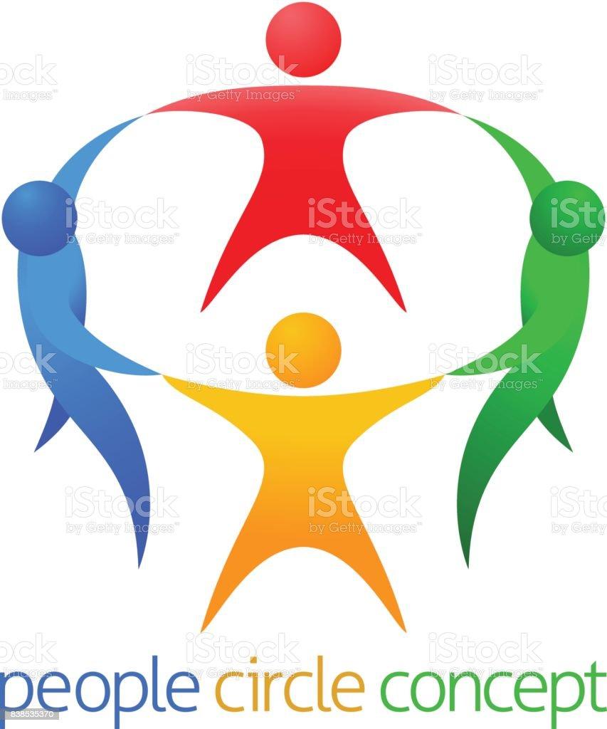 Concepto de equipo de círculo de personas - ilustración de arte vectorial