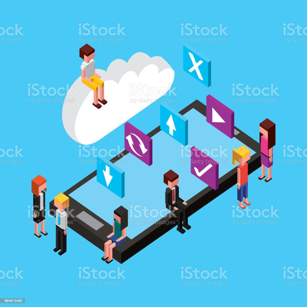 people cloud computing storage royalty-free people cloud computing storage stock vector art & more images of adult
