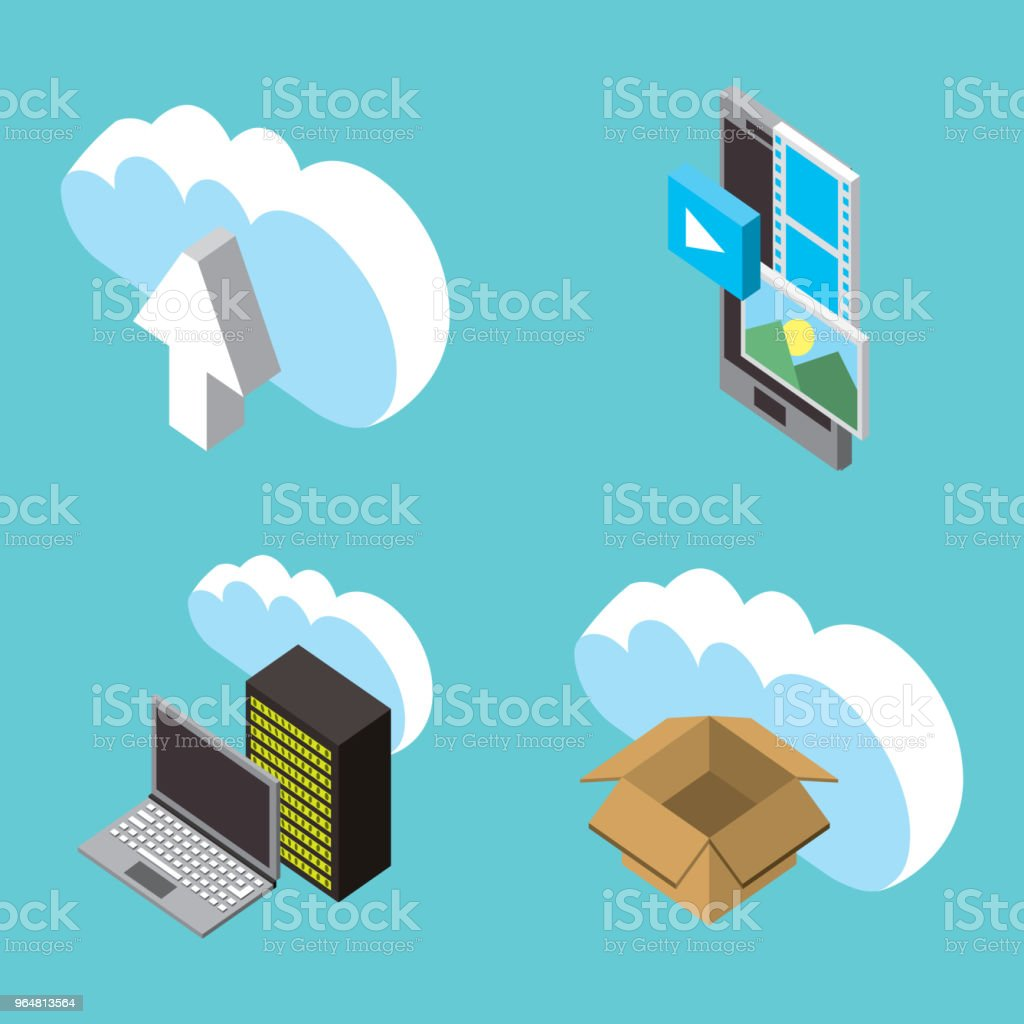 people cloud computing storage royalty-free people cloud computing storage stock vector art & more images of arranging