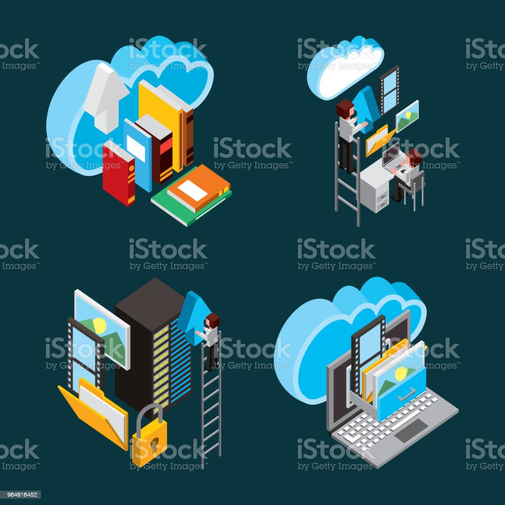people cloud computing storage royalty-free people cloud computing storage stock vector art & more images of adult
