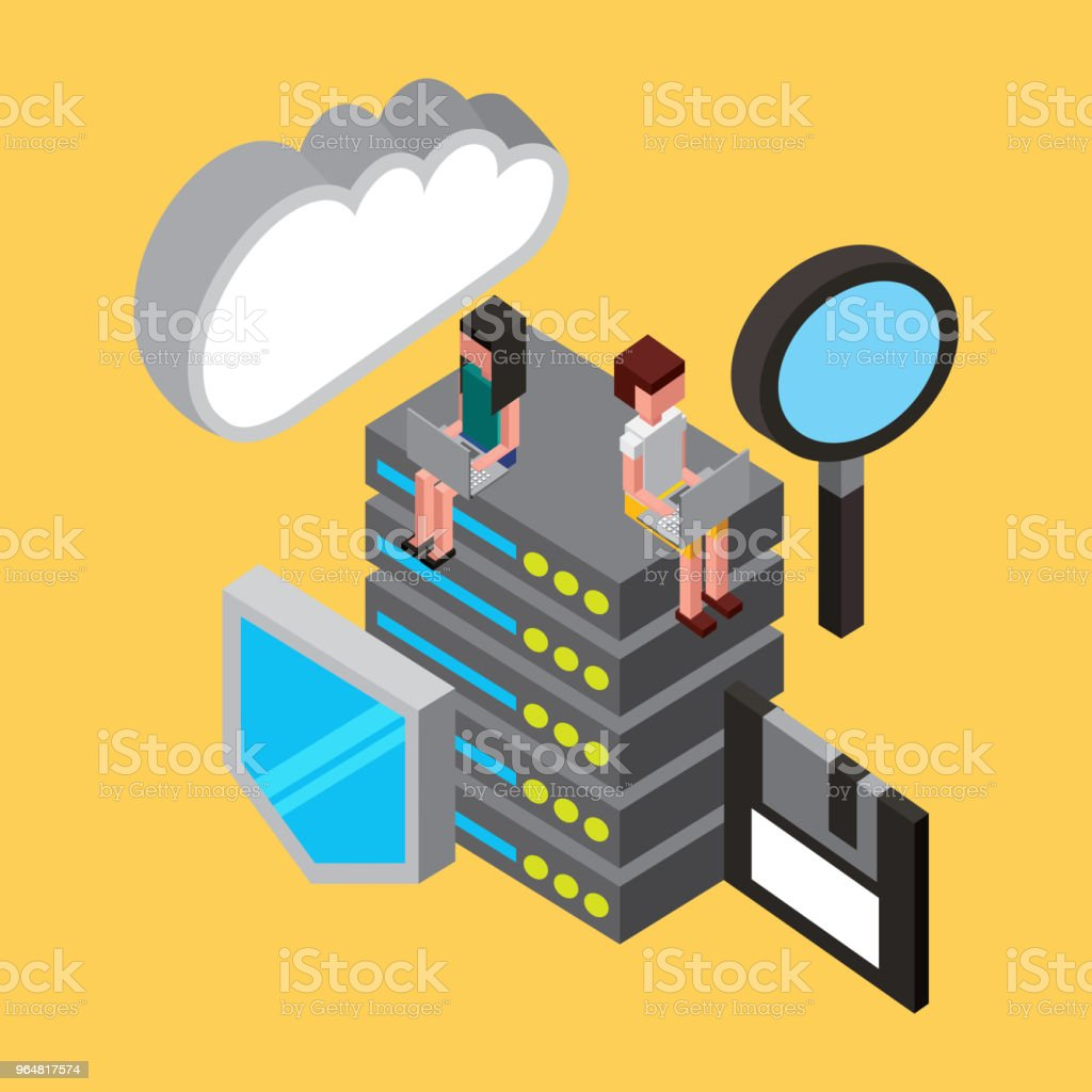 people cloud computing storage royalty-free people cloud computing storage stock vector art & more images of analyzing