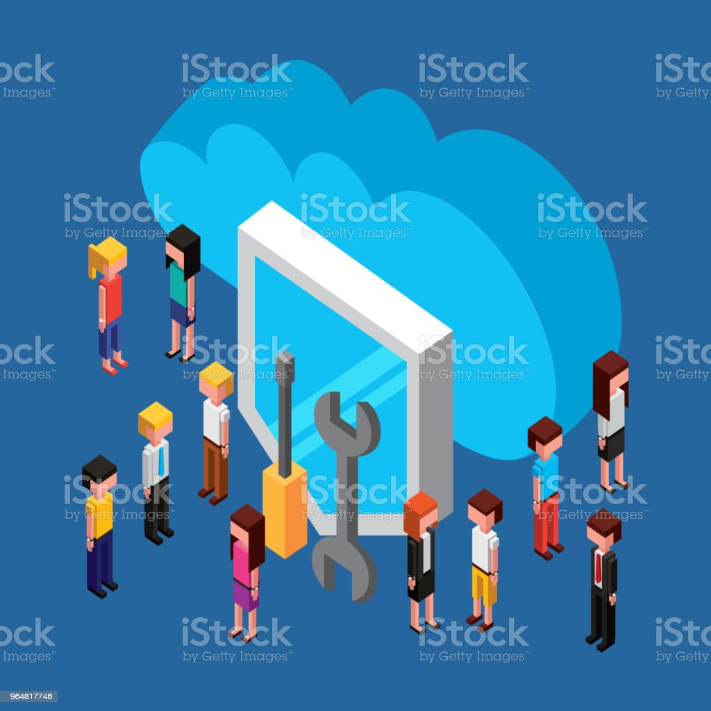 people cloud computing storage royalty-free people cloud computing storage stock vector art & more images of accessibility